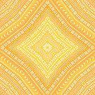 Boho Yellow Kaleidoscope Mandala by blueskywhimsy