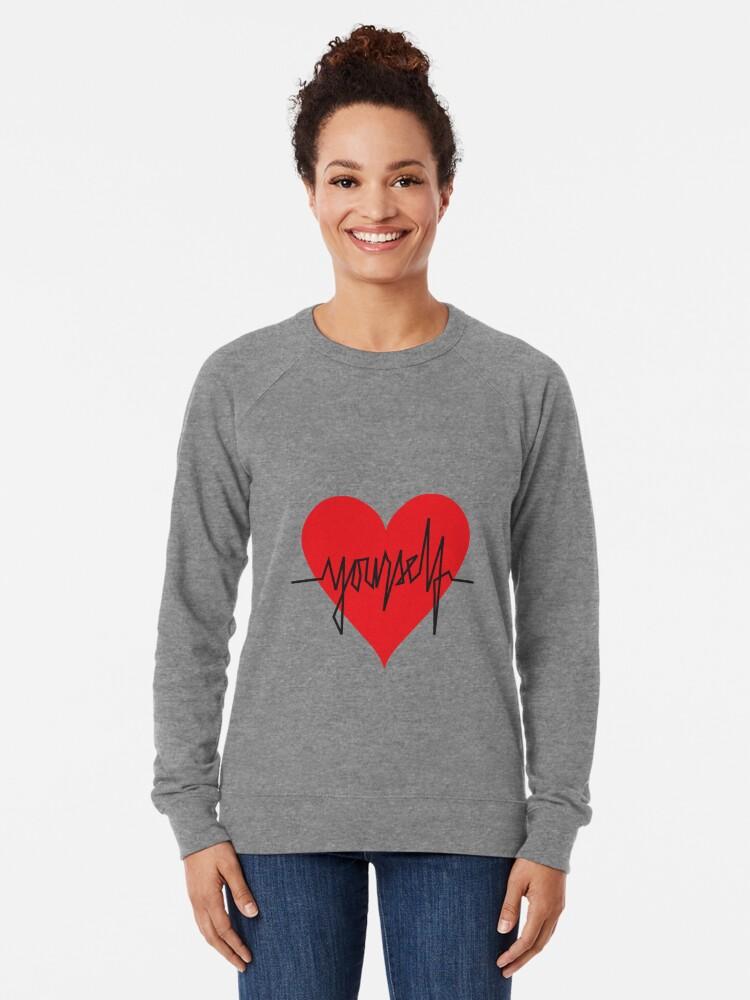 Alternate view of love yourself - zachary martin Lightweight Sweatshirt