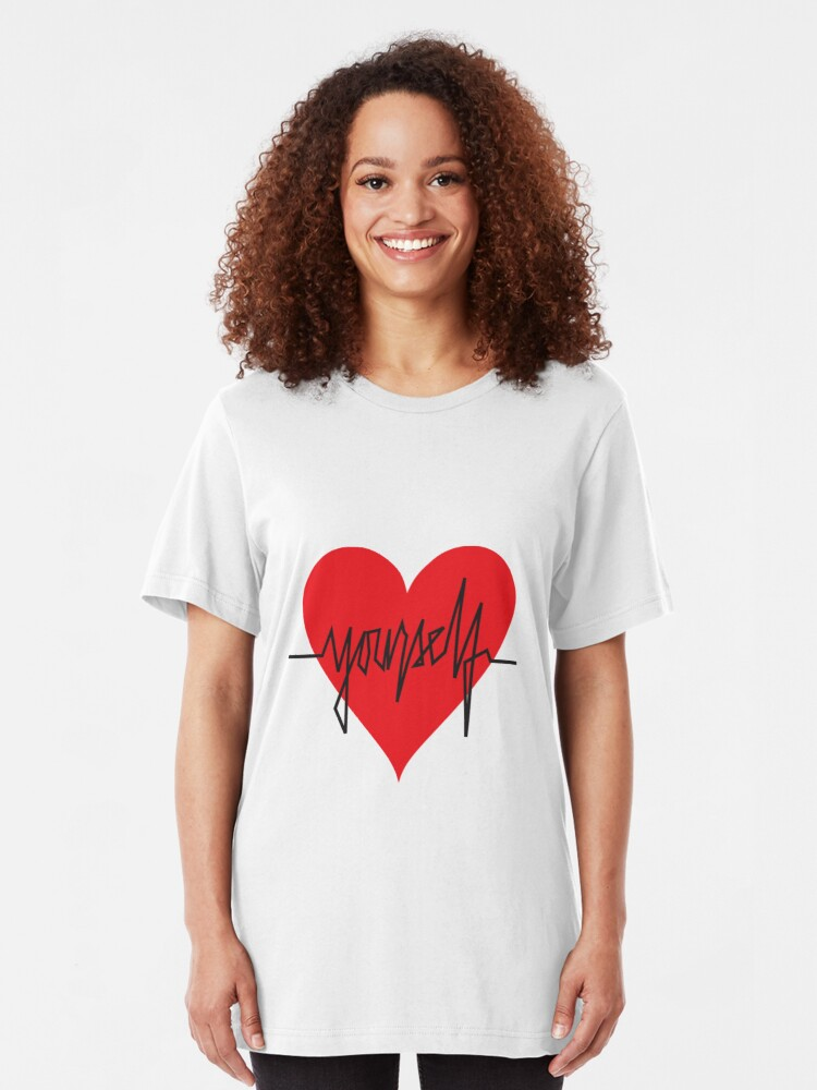 Alternate view of love yourself - zachary martin Slim Fit T-Shirt