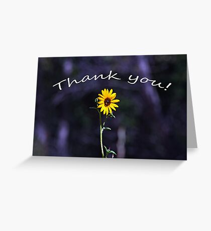 Thank You Card with a Sunny Flower Greeting Card