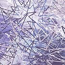 Crazy Constellation - Icy Blue and Purple - Jenny Meehan by Jenny Meehan