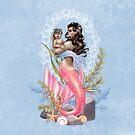 Rosa Meerjungfrau-Mutter und Baby von LCWaterworth