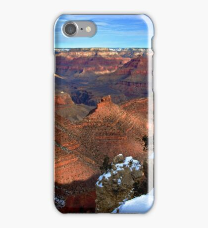 Grand Canyon - Snow on the Rim iPhone Case/Skin