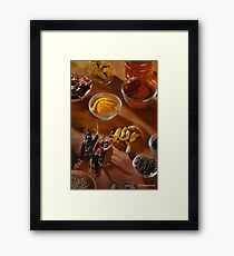 DICY SPICY Framed Print