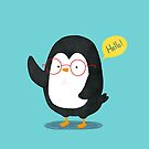 Penguin with glasses by julianamotzko