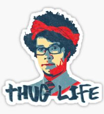 It Crowd Inspired - Moss & the Thug Life - Nerd Goes Gangsta - Flippin Awesome Moss Sticker