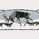 "Dachshund Hunting Team.. 1902 ""Verbellt"" by edsimoneit"