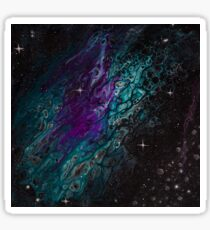 Pegatina Pintura abstracta de asteroides - Formación acuario