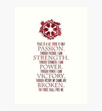 The Sith Code Art Print