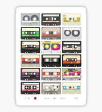 Cassette Tapes (mixtape Love) Sticker