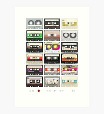 Cassette Tapes (mixtape Love) Art Print