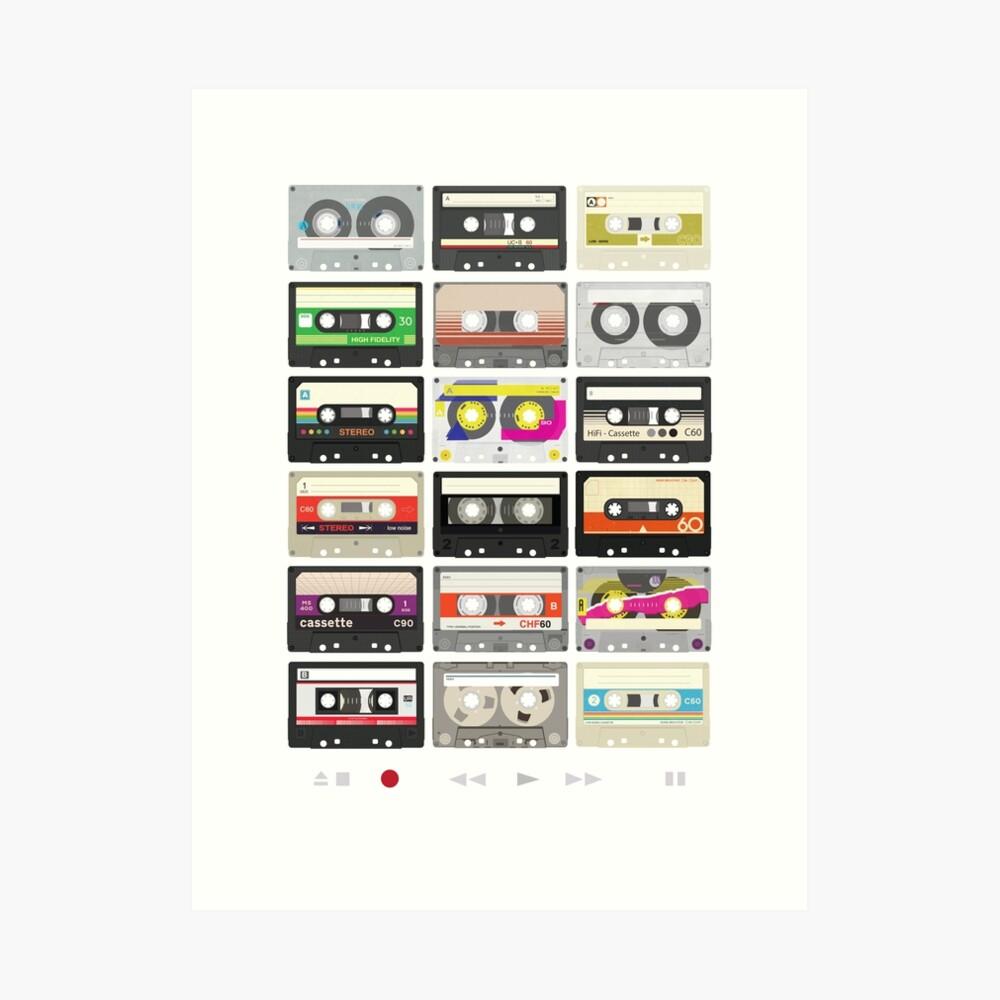 Cassette Tapes (mixtape Love) Art Print