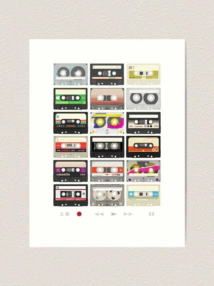 Alternate view of Cassette Tapes (mixtape Love) Art Print