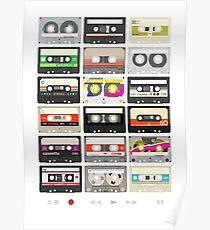 Cassette Tapes (mixtape Love) Poster