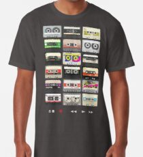 Cassette Tapes (mixtape Love) Long T-Shirt