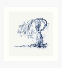 Hedgewitch, Blue Art Print