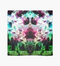 red and green psychedelic flower petals Scarf