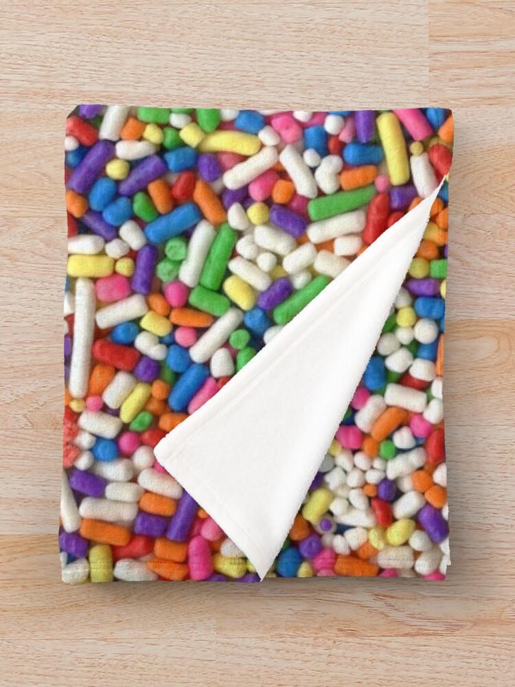 Alternate view of Rainbow Sprinkles Throw Blanket
