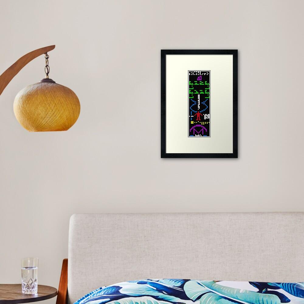Arecibo Message Framed Art Print