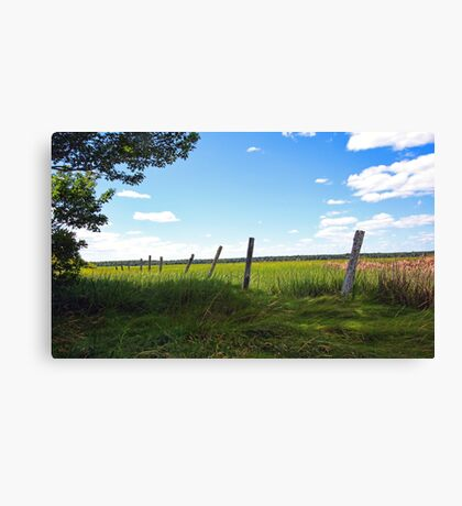 Old FencePosts - The Marsh at Pine Point Canvas Print