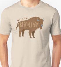Crazy Bison Lady Unisex T-Shirt