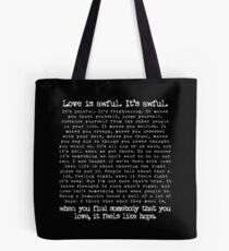Fleabag Love Speech| Hot Priest Wedding| Typewriter Quote Tote Bag