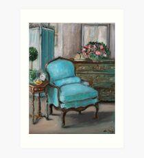 Turquoise Chair Art Print