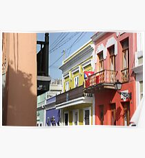 Old San Juan Colors Poster