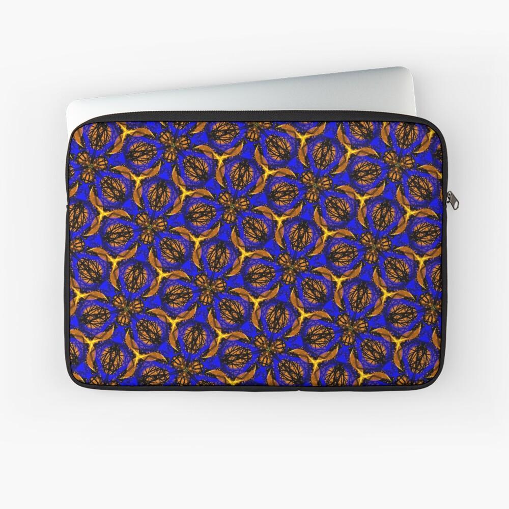 Blue yellow African print  Laptop Sleeve
