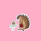 Cute Baking Hedgehog by abitofmiranda