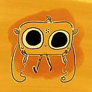 Funny Orange Radio Lad by abitofmiranda