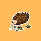 Cute Friends Tequila Hedgehog by abitofmiranda