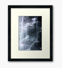 Waterfall abseil Framed Print