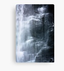 Waterfall abseil Canvas Print