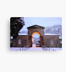 Winter Snow at Sewerby Hall Metal Print
