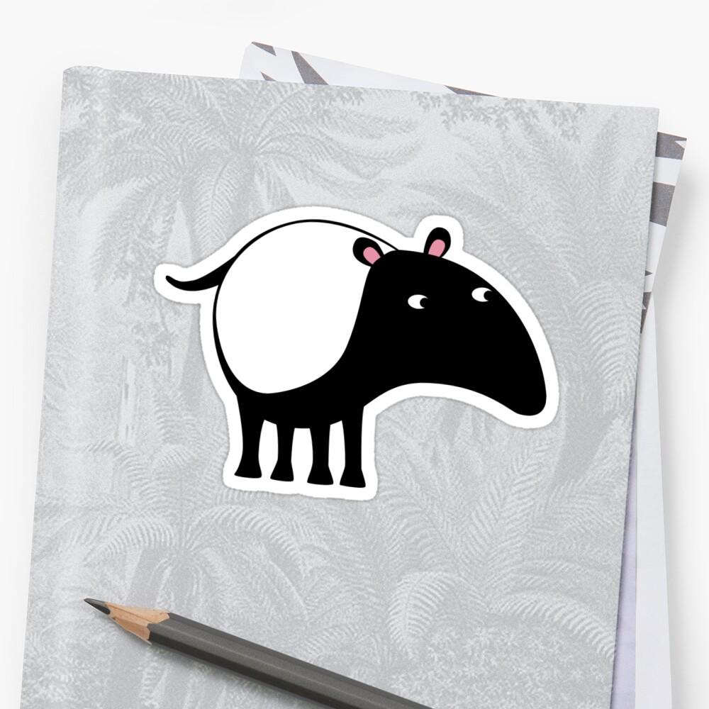 Malayan Tapir Sticker