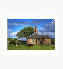 Cottage at Blackness Art Print