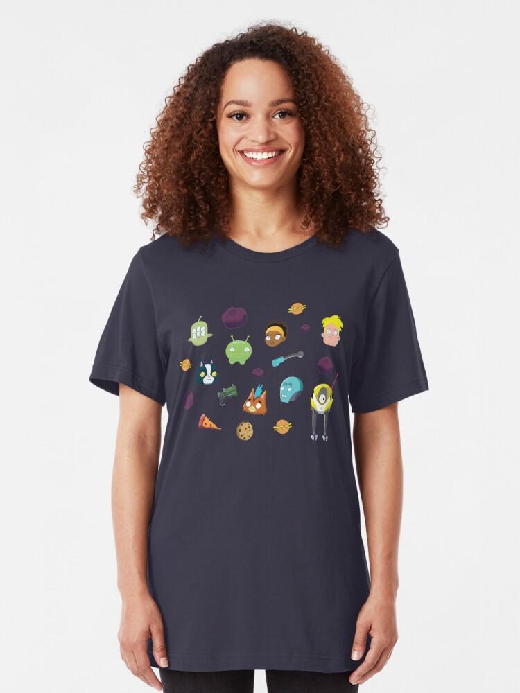 Alternative Ansicht von Endgültiges Leerzeichenmuster Slim Fit T-Shirt