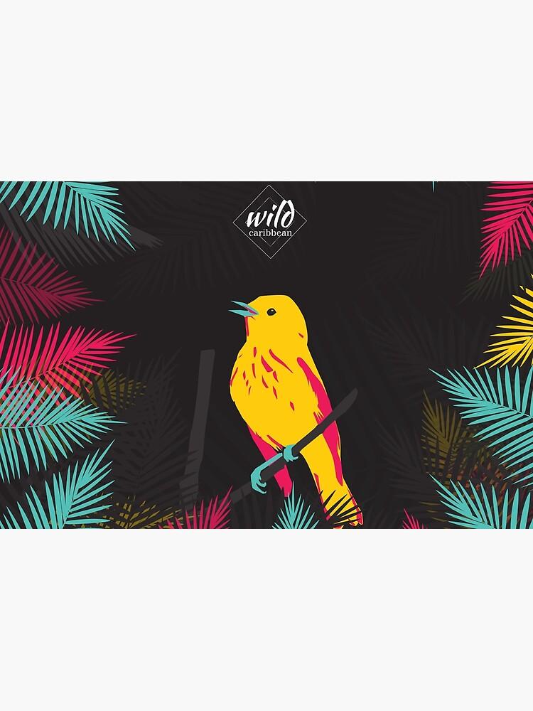 «Oiseau jaune sur fond noir» par oodyni