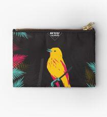 Oiseau jaune sur fond noir Pochette