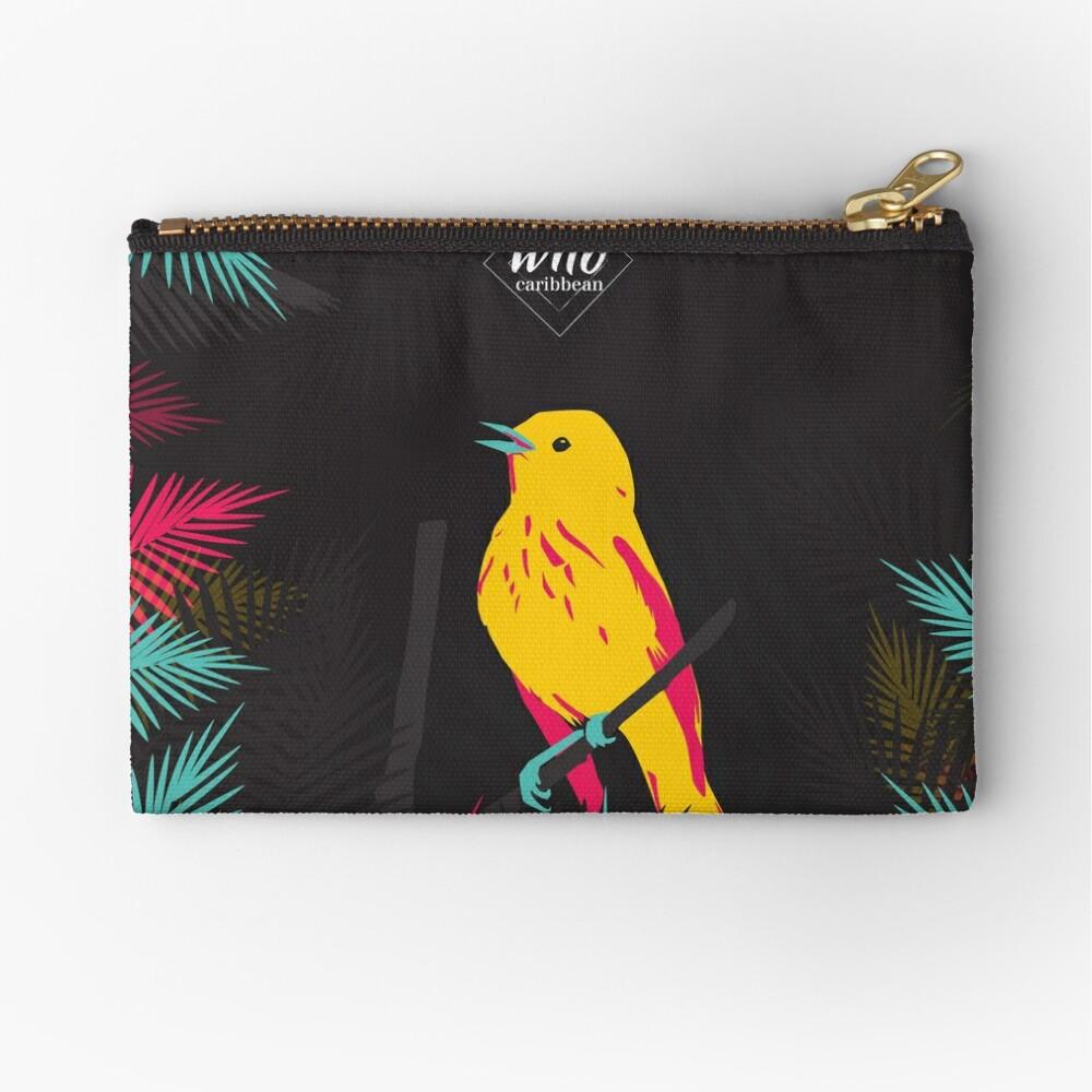Pochette «Oiseau jaune sur fond noir»