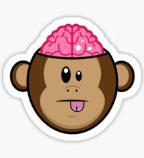 Monkey Brains Sticker