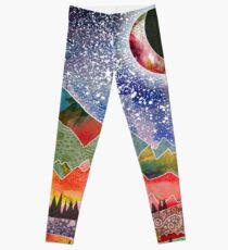 Camping under the moon Leggings