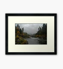 Umpqua on an Angry Fall daze... Framed Print