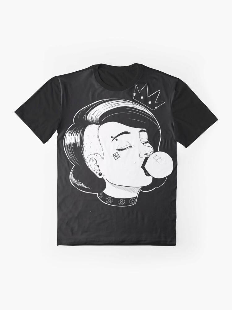 Alternate view of Punk Goth Pop Queen Graphic T-Shirt