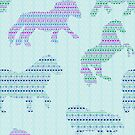 Shetland Fairisle Dancing Ponies - Light blue by Juliewdesigns