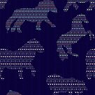 Shetland Fairisle Dancing Ponies - Dark blue by Juliewdesigns