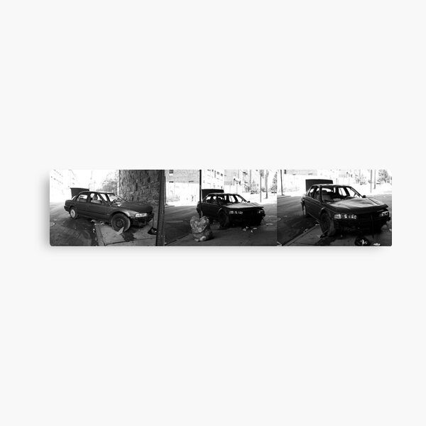 Car Stripped Triptych Canvas Print
