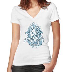 T-shirt moulant col V