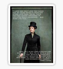 Pegatina Anne Lister, Gentleman Jack